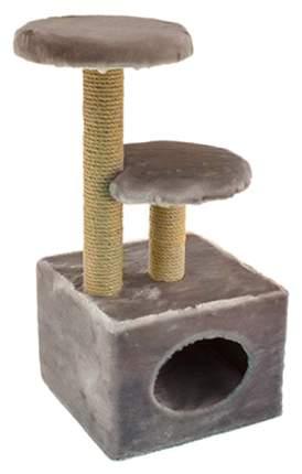 Домик для кошек Дарэлл Чип, 2-х уровневый, квадратный, 43х35х71 см