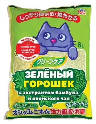 Комкующийся наполнитель для кошек Japan Premium Pet соевый, бамбук и японский чай, 6 л