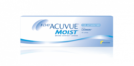 Контактные линзы 1-Day Acuvue Moist for Astigmatism 30 линз -4,00/-0,75/70