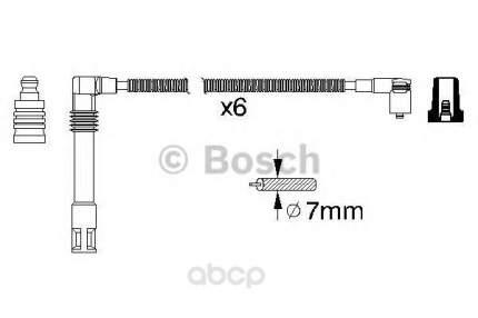 Провода высоковольтные комплект Bosch 0986356321