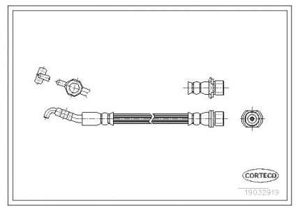 Шланг тормозной системы CORTECO 19032919