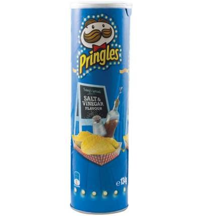 Чипсы Pringles salt&vinegar со вкусом соли и уксуса 158 г