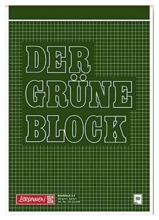 Блокнот Brunnen склеен сверху А4, 50 листов, клетка, 60 г/м2