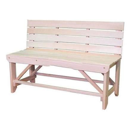 Скамейка со спинкой Лесодар, 1200х320х422мм