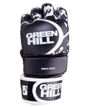 Перчатки для MMA Green Hill-0057, к/з, черные (S)