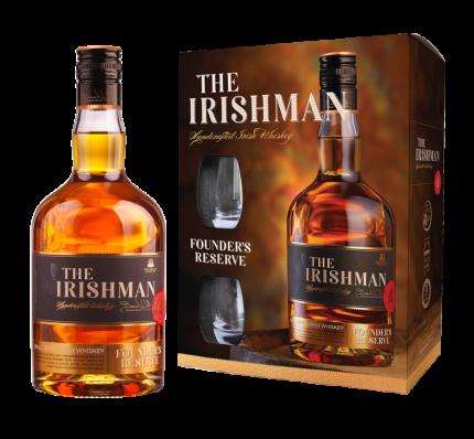 Виски The Irishman Founder's Reserve + 2 glasses
