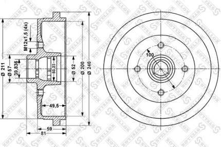Тормозной барабан STELLOX 6025-4709-SX