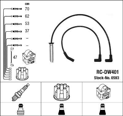 Комплект проводов зажигания NGK 0593