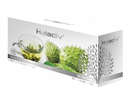 Чай зеленый пакетированный Heladiv GT soursop green tea 25 пакетиков