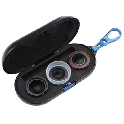 Комлект объективов для смартфона Sirui 3 объектива (18мм wideangle, Macro, Fisheye)