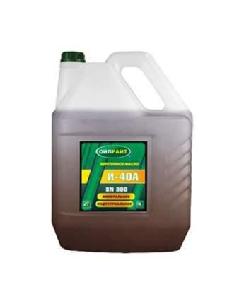 Веретенное масло OILRIGHT И-40А 10 литров