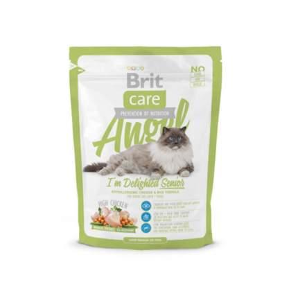 Сухой корм для кошек Brit Care Angel Delighted Senior, для пожилых курица, 0,4кг