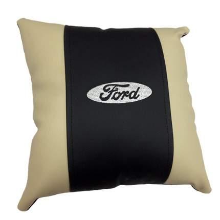 Декоративная подушка из экокожи с логотипом FORD
