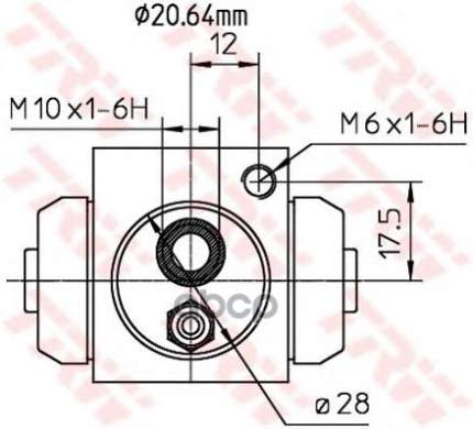Тормозной цилиндр TRW/Lucas BWF309
