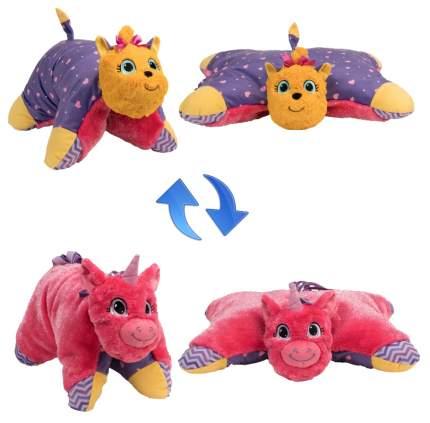 Мягкие игрушки-подушки 1TOY Т12045 2 в 1 вывернушка лавандовый единорог щенок йорк