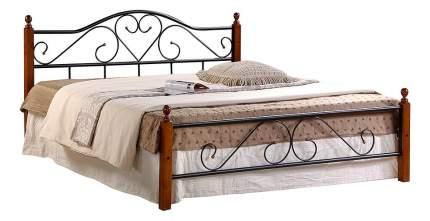 Кровать полутораспальная TetChair AT-815 140х200 см, красный/черный