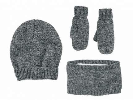 Комплект детский Lupilu шапка, шарф и варежки серый р.104-116