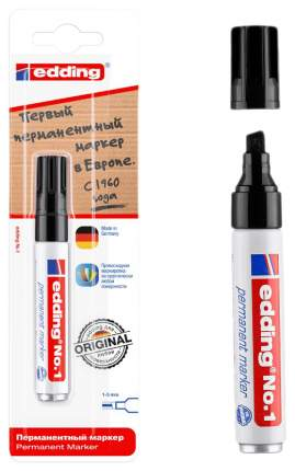 Перманентный маркер Edding чёрный, блистер