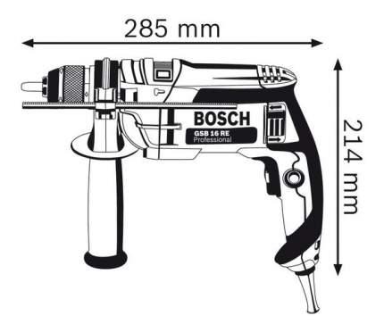 Сетевая ударная дрель Bosch GSB 16 RE 060114E500