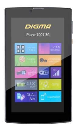 Планшет Digma Plane 7007 3G Black (TS7054MG)
