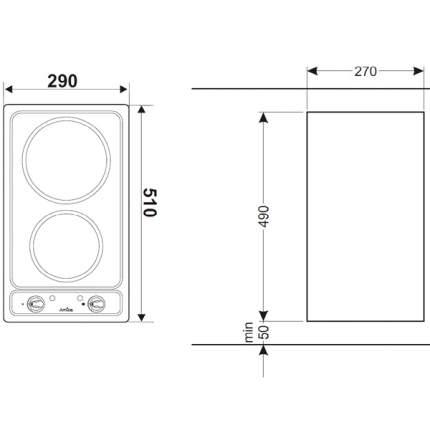 Встраиваемая варочная панель электрическая Hansa BHEI30130010 Silver