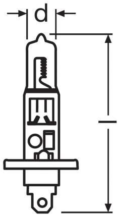 Лампа галогенная автомобильная OSRAM H1 55W (64150.01B)