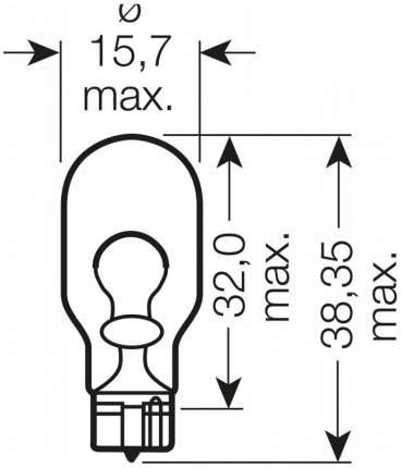 Лампа накаливания автомобильная OSRAM 12V 16W (921)