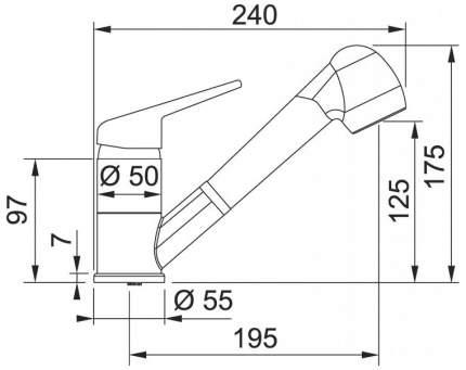 Смеситель для кухонной мойки Franke NOVARA PLUS 115.0470.675 оникс