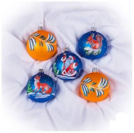 Набор шаров Елочка Зимние напевы разноцветный C1228