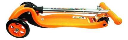 Самокат трехколесный Maxcity Flex 168101 серебристый-оранжевый