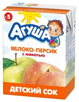 Сок Агуша Яблоко и персик с мякотью с 5 мес 200 мл