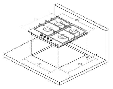 Встраиваемая варочная панель газовая KUPPERSBERG FGC63 B Black