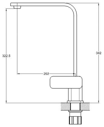 Смеситель для кухонной мойки G.lauf LEB-4123-T/NEB4-A123KT