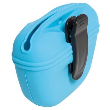 Сумочка для лакомств V.I.PET силиконовая с магнитным замком, голубая