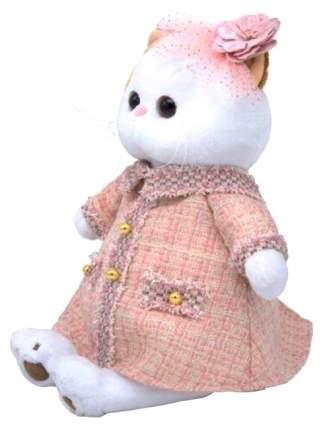 Мягкая игрушка BUDI BASA Кошечка Ли-Ли в розовом костюме в клетку, 27 см