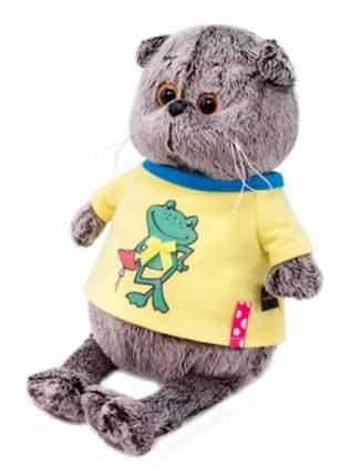 Мягкая игрушка BUDI BASA Басик в футболке с принтом Лягушонок, 22 см