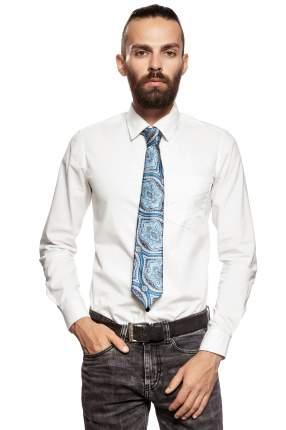 Классический галстук Холодные краски с модным принтом Signature 204435 голубой