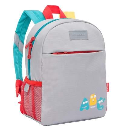Дошкольный рюкзак для мальчика Grizzly RK-077-2 светло-серый