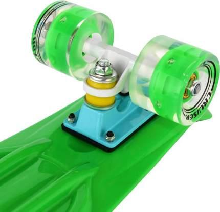 """Мини-круизер RGX PNB-01GW (22"""") Green светящиеся колеса"""