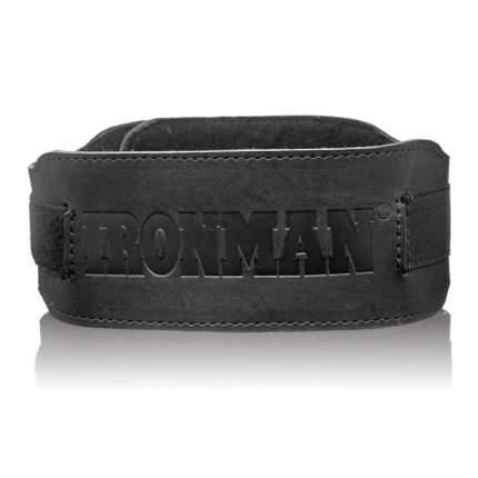Пояс для тяжелой атлетики Ironman Фитнес черный M