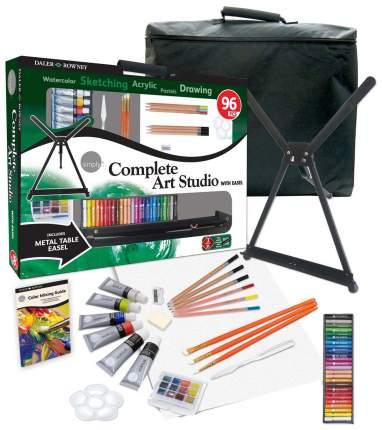Художественный набор с мольбертом Complete Art Set DALER ROWNEY 96 пр.