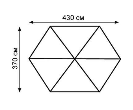 Пол для палатки съемный Tramp Mosquito (370 х 430 см) черный