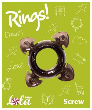 Эрекционное кольцо Lola Toys Rings Screw черный