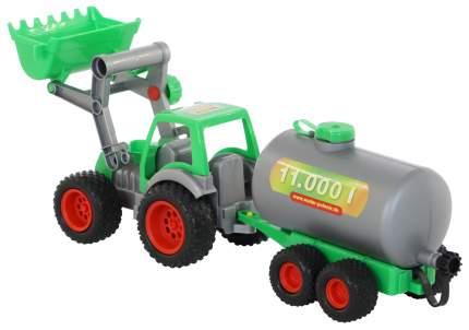 Фермер-техник Wader трактор-погрузчик с цистерной