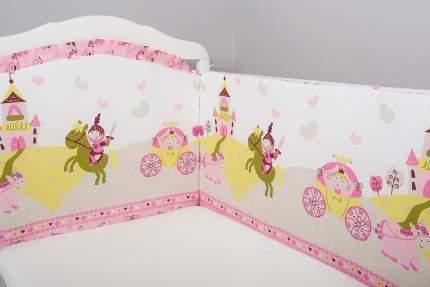 Борт в кроватку Сонный Гномик Золушка розовый