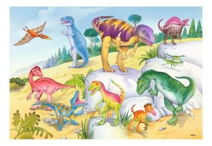 Пазл ravensburger «красочные динозавры» 2х24элем.