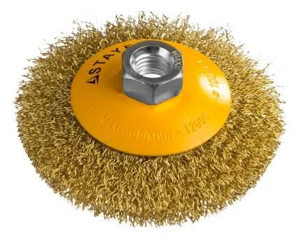 Коническая кордщетка для угловых шлифмашин Stayer 35133-100
