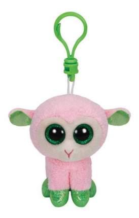 Мягкая игрушка TY Beanie Boos Брелок Овечка (розовая с зелеными копытцами) 12 см
