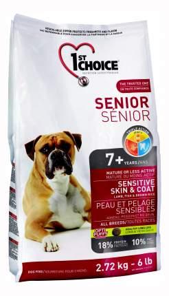 Сухой корм для собак 1st choice Senior Sensitive Skin&Coat, для пожилых, ягненок, 2,72кг