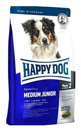 Сухой корм для щенков Happy Dog Supreme Young Medium Junior, птица, лосось, 1кг